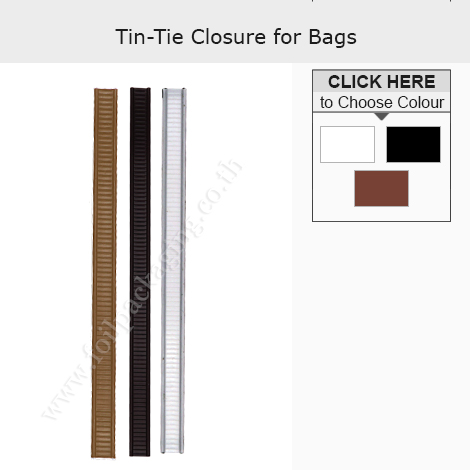 TIN TIE CLOSURE FOR BAGS